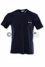 Malteser-T-Shirt, dunkelblau doppeltes Logo