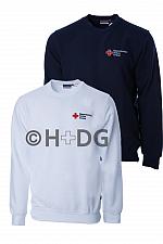 BRK-Sweatshirt in weiß oder tinte mit Kompaktlogostick auf linker Brustseite