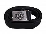 Malteser-Ledergürtel, schwarz in verschiedenen Längen