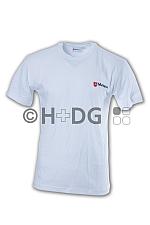Malteser-T-Shirt, weiß doppeltes Logo
