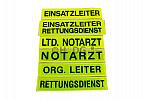 Standard-Rückenschilder, Reflexite® gelb, schwarzer Schriftzug