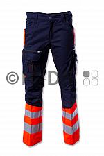 Hüsler Einsatzhose Ready, Membrane im Knie, leuchtrot/blau/schwarz