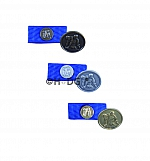 WW-Zivilabzeichen mit Pin und Bandspange als Set, in bronze / silber / gold und breit / schmal