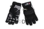 DRK-Einsatzhandschuh mit Schnittschutz aus Synthetikleder, schwarz