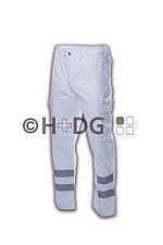Damen-Einsatzhose weiß (300 g/m²) mit Handytasche und Dehnbund