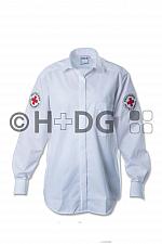 DRK-Pilotbluse, weiß, Schultertunnel, 1/1-Arm oder 1/2-Arm
