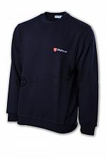 Malteser-Sweatshirt, dunkelblau doppeltes Logo