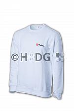 Malteser-Sweatshirt, weiß doppeltes Logo