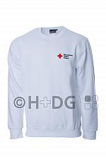 DRK-Sweatshirt, weiß, mit Kompaktlogostick auf Brustseite