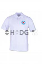BRK-WW-Poloshirt, Herren, weiß, mit Patch