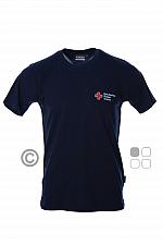 DRK-T-Shirt, Mischgewebe, mit Kompaktlogostick, tinte