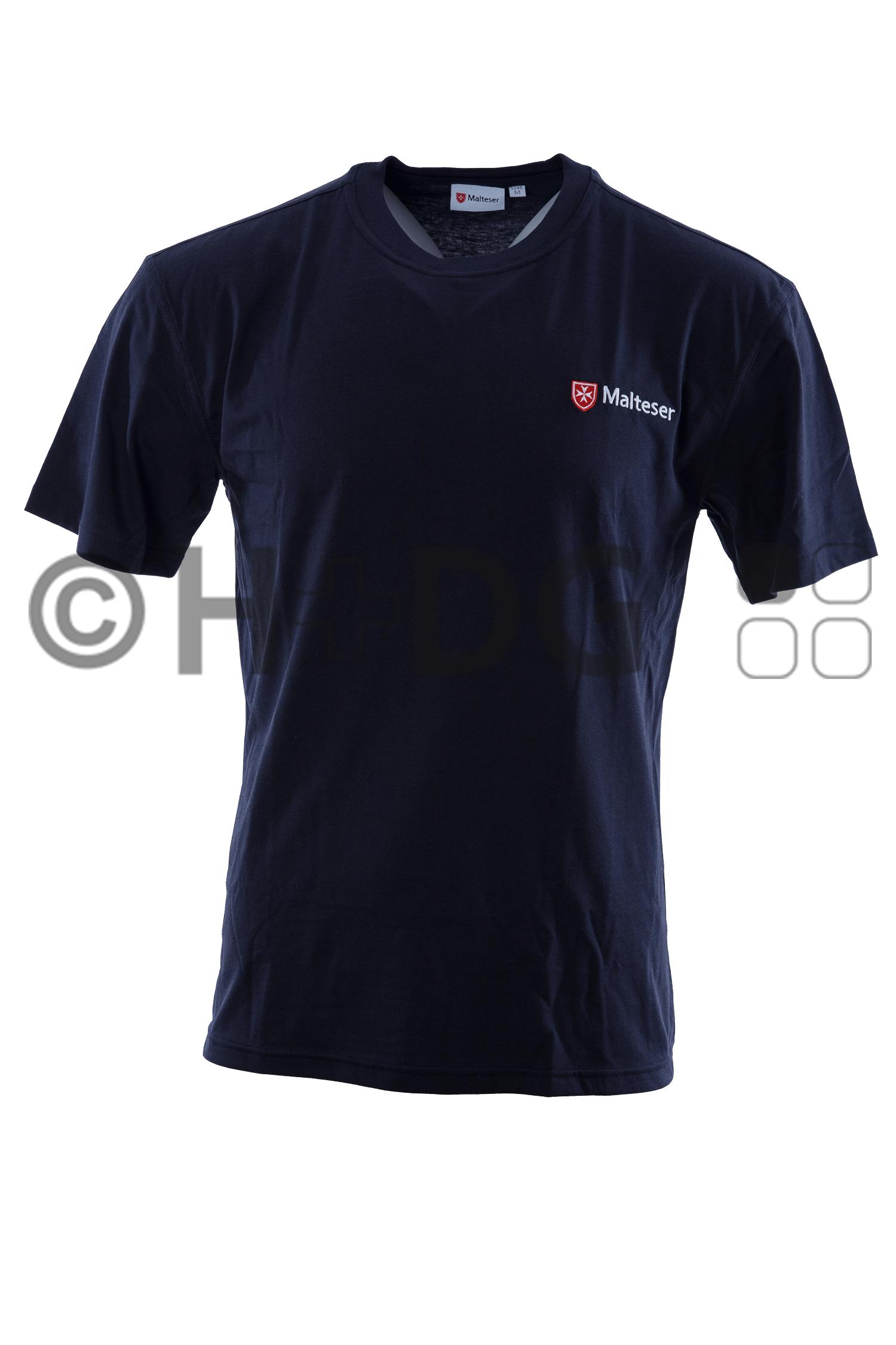Malteser SSD-T-Shirt, dunkelblau | H+DG | {Schulsanitäter ausweis 67}