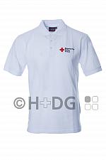 BRK-Herren-Poloshirt, weiß mit Kompaktlogostick auf linker Brustseite