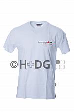 SSG-T-Shirt, weiß doppelter Logodruck