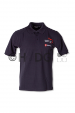 Malteser-HKW-Poloshirt, dunkelblau, HKW-Logo auf Brust + Rücken
