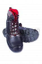 Sicherheits-Schnürschuh schwarz/rot