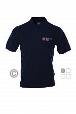 DRK-Poloshirt, tinte, mit Kompaktlogostick auf linker Brustseite
