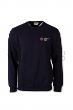 DRK-Sweatshirt, tinte, Mischgewebe 50/50 Kompaktlogostick
