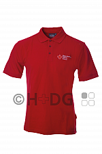 BRK-Damen-Poloshirt, rot mit Kompaktlogostick