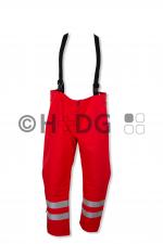 WW-Wetterschutzlatzhose, rot, neutral, gem. WW Bayern