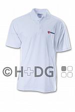 Malteser-Poloshirt, weiß, Neu 2017 doppeltes Logo