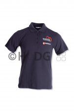 Malteser-HKW-Damen-Poloshirt, dunkelblau HKW-Logo Brust + Rücken