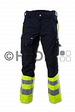 Hüsler Einsatzhose Ready, Membrane im Knie, leuchtgelb/blau/schwarz