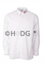 Bereitschaften-Olymp-Businesshemd, weiß, 1/1-Arm oder 1/2-Arm