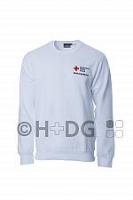 DRK-Sweatshirt, weiß, 'Rettungsdienst Rheinland-Pfalz'