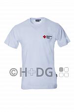 DRK-T-Shirt, weiß, Baumwolle Kompaktlogostick, Größe XS - 6XL