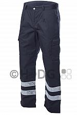 Herren-Einsatzhose DRK 2012 grau, 2 Reflex mit Kniepolstertasche