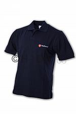Malteser-Poloshirt, dunkelblau doppeltes Logo