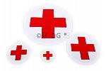 Aufkleber 'Rotes Kreuz auf Weiß' in 4 Größen