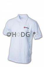 Malteser-Poloshirt, weiß doppeltes Logo