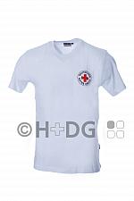 DRK-T-Shirt, weiß, Baumwolle, mit Rundlogodruck auf Brustseite