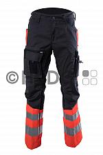 Hüsler Einsatzhose Ready, Membrane im Knie, leuchtrot/grau/schwarz