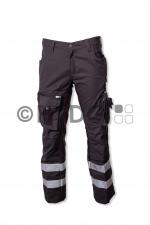 Hüsler Einsatzhose Ready S, Membrane im Knie,grau/schwarz