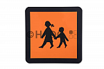 Schulbussymbolschild klappbar oder magnetisch, in versch. Größen