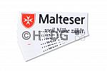 Malteser-Aufkleber, in verschiedenen Größen und Ausführungen