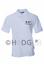 DRK-Poloshirt, weiß, 'Rettungsdienst Rheinland-Pfalz'