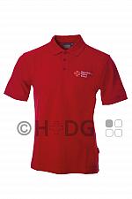 BRK-Herren-Poloshirt, rot, mit Kompaktlogostick auf Brust