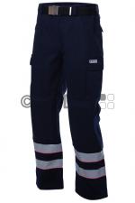Malteser-Damen-Einsatzhose, dunkelblau, 2 Reflex, Kniepolstertasche