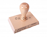 Malteser-Buchungsstempel (Holzstempel) festgelegte Aufteilung oder individuelle Gestaltung