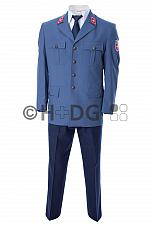 Malteser-Dienstjacke (Sakko), graublau, Kompaktlogo beiseitig (Arme)