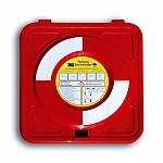Rettungsring-Standgehäuse, signalrot, mit Pfosten, ohne Ausrüstung