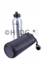 Vorderansicht Aluminium-Trinkflasche u. Iso-Tasche