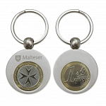 Malteser-Schluesselanhaenger, Metall, mit maltesischer 1-Euro-Muenze